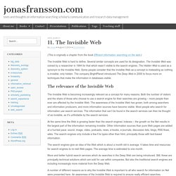 The Invisible Web (Jonas Fransson)