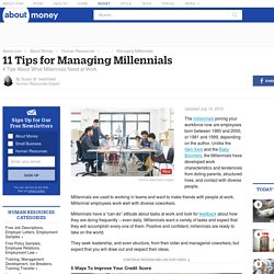 11 Tips for Managing Millennials