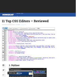 11 Top CSS Editors – Reviewed