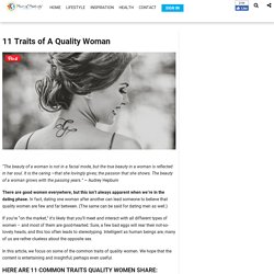 11 Traits of A Quality Woman