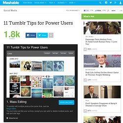 11 Tumblr Tips for Power Users