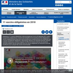 11 vaccins obligatoires en 2018