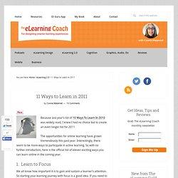 11 formas de aprender en el año 2011: El entrenador eLearning