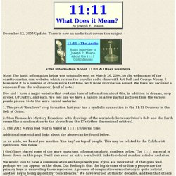 11:11 - What Does it Mean?