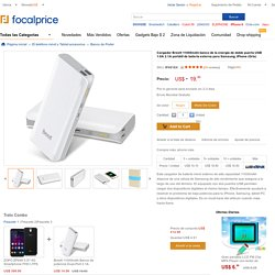 Breett 11000mAh poder banco Dual-Port 2.1A 1.0A USB cargador de batería externo portátil para Samsung, iPhone (gris)