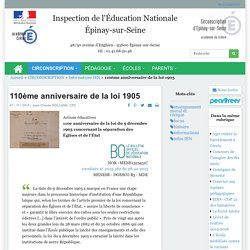 110ème anniversaire de la loi 1905