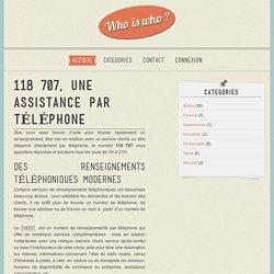 118 707, une assistance par téléphone