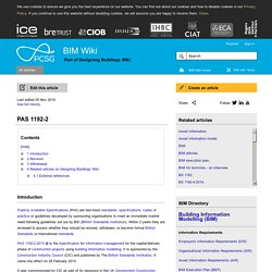 PAS 1192-2 - Designing Buildings Wiki