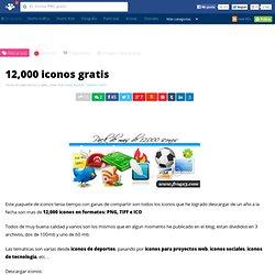 12,000 iconos gratis