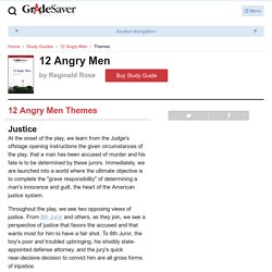 12 Angry Men Themes