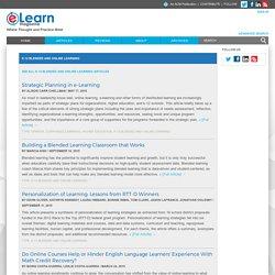 K-12 Blended And Online Learning