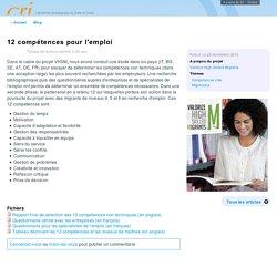 12 compétences pour l'emploi