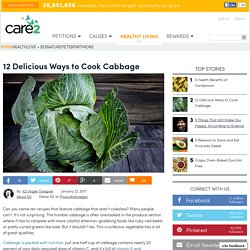 12 Delicious Ways To Cook Cabbage