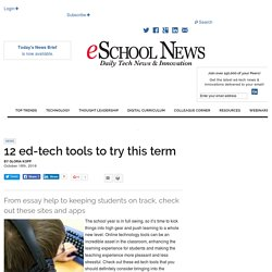 12 ed-tech tools to try this term