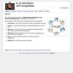 K-12 ePortfolios with GoogleApps