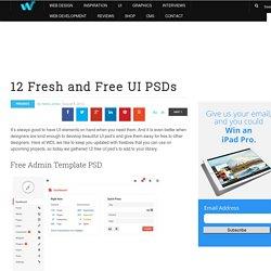 12 Fresh and Free UI PSDs