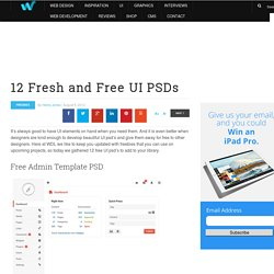 12 Fresh and Free UI PSDs