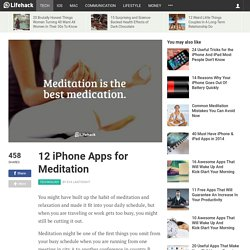 12 iPhone Apps for Meditation