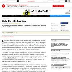 12. Le FN et l'éducation