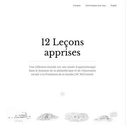 12 Leçons apprises