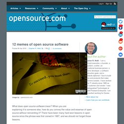 12 memes of open source software