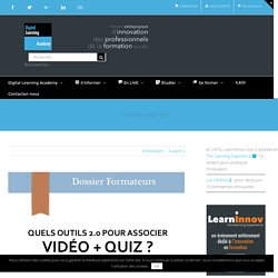 12 outils de vidéo + quiz