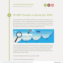 12 SEO Trends to Know for 2021