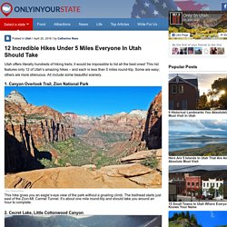 12 Short Hikes in Utah