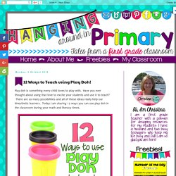 12 Ways to Teach using Play Doh!