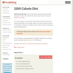1200 Calorie Diet and Meal Plan
