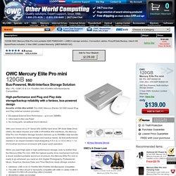 OWC 120GB Mercury Elite Pro mini portable SSD... in stock at OWC
