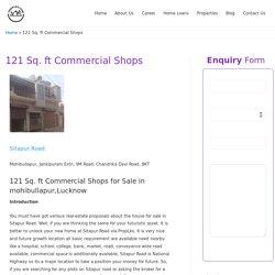 121 Sq. ft Commercial Shops -