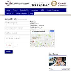 Driving School Calgary NW - Contact Us