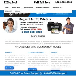 123.hp.com/setup M177, Setup HP Laserjet M177