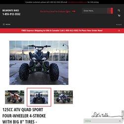 "125CC ATV QUAD SPORT FOUR-WHEELER 4-STROKE WITH BIG 8"" TIRES - SEMI-AUTOMATIC"
