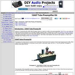 12AX7 Tube (valve) Preamplifier Kit