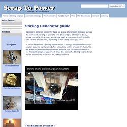 12V DIY Stirling Generator Plans