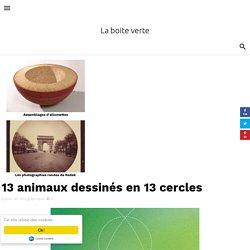 13 animaux dessinés en 13 cercles