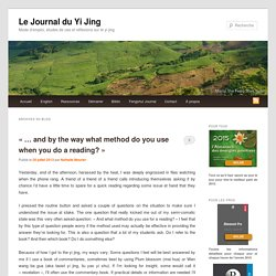 13 Archives - Le Journal du Yi Jing