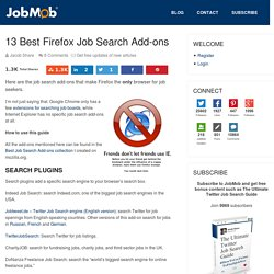 13 Best Firefox Job Search Add-ons