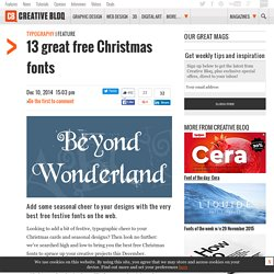 13 great free Christmas fonts