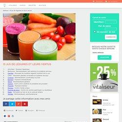 13 jus de légumes et leurs vertus