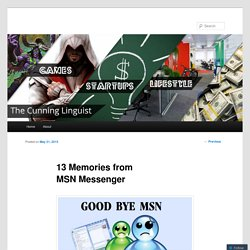 13 Memories from MSN Messenger