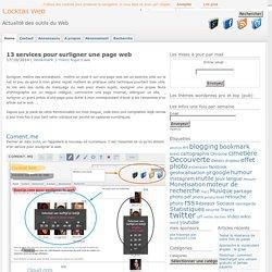 8 services pour surligner une page web