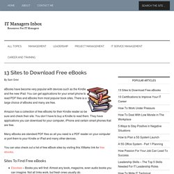 13 Sites to Download Free eBooks - StumbleUpon