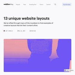 13 unique website layouts