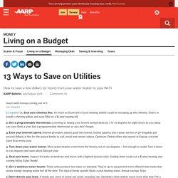 13 Ways to Save Money on Utilities