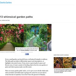 13 whimsical garden paths