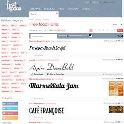 131 Free food fonts