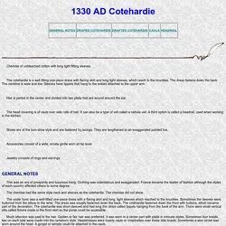1330 AD Cotehardie